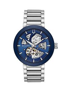 bulova-bulova-blue-sunray-automatic-skeleton-eye-dial-stainless-steel-bracelet-mens-watch