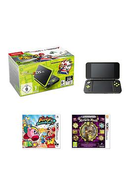 Nintendo 2ds Xl Console With Mario Kart 7 - Black Green 7+ Years