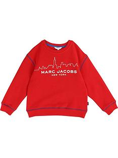 little-marc-jacobs-boys-cityscape-logo-sweatshirt-red
