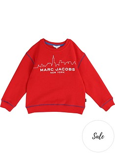 little-marc-jacobs-boys-cityscape-logo-sweatshirt-red