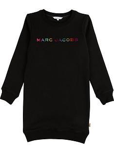 little-marc-jacobs-girls-multi-foil-logo-dress-black