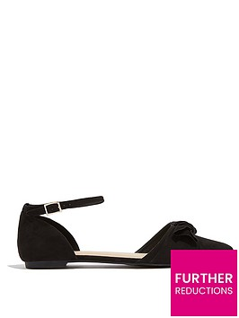 oasis-bow-two-part-flat-shoes-black