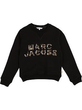 little-marc-jacobs-girls-embellished-logo-sweatshirt-black