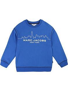 little-marc-jacobs-boys-cityscape-logo-sweatshirt-blue
