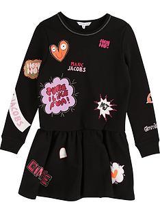 little-marc-jacobs-girls-milano-badgenbspprint-dress-black