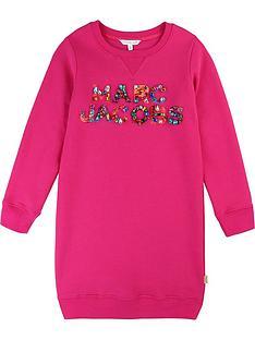 little-marc-jacobs-girls-embellished-logo-sweatshirt-dress-pink