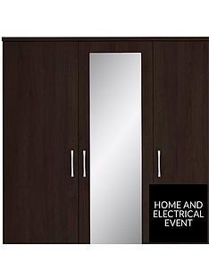 peru-3-door-4-drawer-mirrored-wardrobe