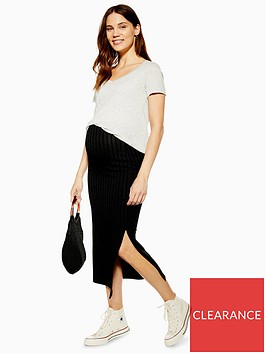topshop-maternity-ribbed-midi-skirt-black