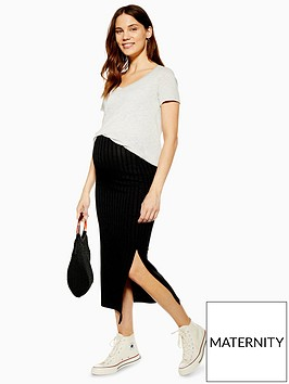 topshop-topshop-maternity-ribbed-midi-skirt-black
