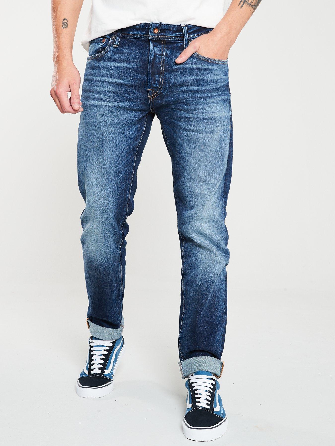 Jack and Jones Mike Original Jeans in Blue Denim