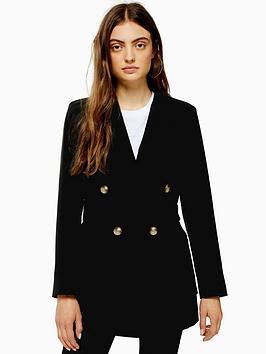 topshop-topshop-belted-twill-blazer-black
