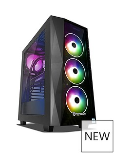 PC Specialist Tracer GT S Intel Core i5, 16GB RAM, 1TB Hard Drive & 256GB SSD, 8GB Nvidia Geforce RTX 2070 Graphics, Gaming Desktop - Black