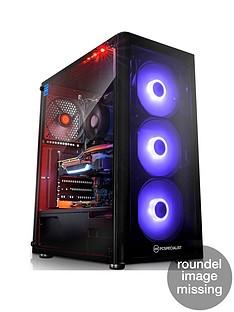 PC Specialist Tracer RT Intel Core i7, 16GB RAM, 1TB Hard Drive & 256GB SSD, 8GB Nvidia Geforce RTX 2060 Graphics, Gaming Desktop - Black
