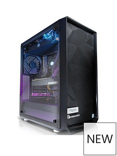 PC Specialist Colossus XT Intel Core i7, 16GB RAM, 2TB Hard Drive & 256GB SSD, 8GB Nvidia Geforce RTX 2080 Gaming Desktop - Black