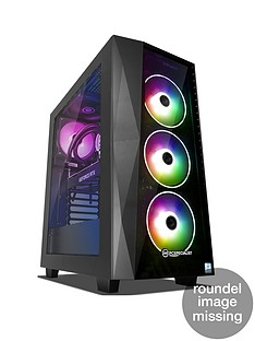 PC Specialist Tracer XT Intel Core i7, 16GB RAM, 2TB Hard Drive & 512GB SSD, 11GB Nvidia Geforce RTX 2080 Ti Graphics, Gaming Desktop - Black
