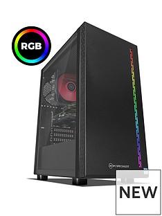PC Specialist Stalker RT Intel Core i5, 8GB RAM, 1TB Hard Drive & 120GB SSD, 6GB Nvidia Geforce GTX 1660 Graphics, Gaming Desktop - Black