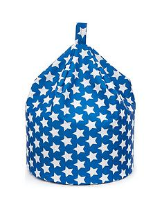 kaikoo-kids-cotton-beanbag-blue-star