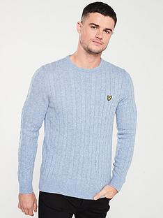 lyle-scott-cable-jumper-stone-blue