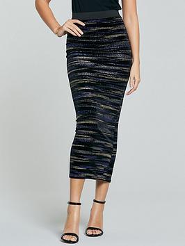 michelle-keegan-lurex-velvet-pencil-skirt-multi