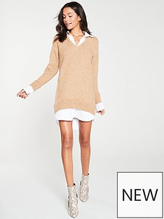 river-island-river-island-knitted-shirt-dress--oatmeal