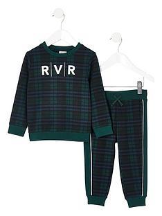river-island-mini-mini-boys-check-rvr-sweatshirt-outfit-green