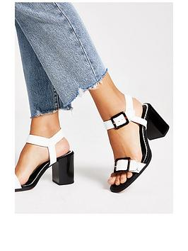 river-island-river-island-wide-fit-buckle-block-heel-sandal-white