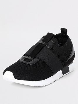 river-island-boys-elasticated-knitted-trainers-black