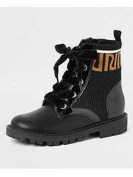 river-island-girls-ri-print-ankle-boots-black