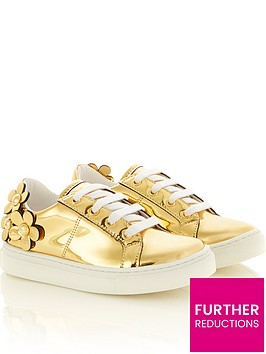 little-marc-jacobs-girls-daisy-gold-trainers