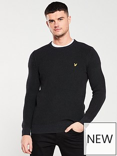 lyle-scott-ribbed-jumper-black