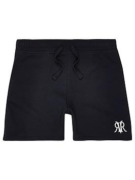 river-island-boys-rvr-embroidered-shorts-navy