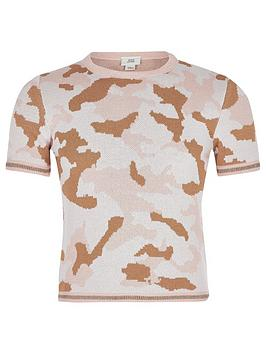 river-island-girls-camo-knitted-t-shirt-pink