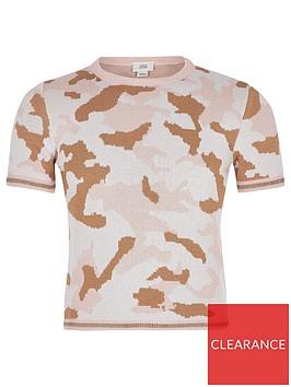 river-island-girls-camo-knitted-t-shirt-pink