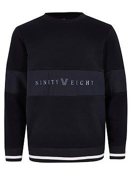 river-island-boys-ninety-eight-panel-sweatshirt-navy