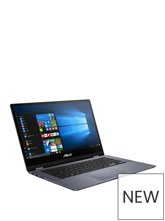 Vivobook Flip TP412UA-EC193T Intel Pentium ,4GB RAM ,128GB SSD ,14in FHD  TOUCH Laptop - Grey with Optional Microsoft Office 365 Home & McAfee Total