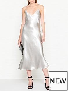 vestire-truth-or-dare-slip-dress-silver