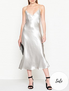 vestire-truth-or-dare-slip-dress-silver
