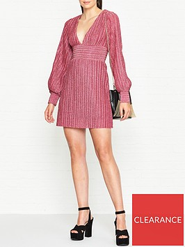 vestire-birdcage-lurex-dress-pink