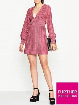 vestire-birdcage-lurex-dress-pink