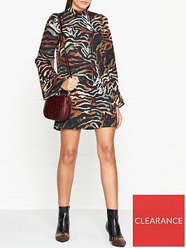 vestire-casino-tiger-print-mini-dress-black