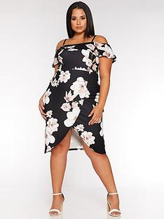 quiz-curve-curve-floralwrap-midi-dress