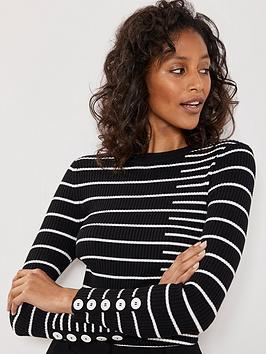 mint-velvet-mint-velvet-irregular-stripe-ribbed-knit-jumper