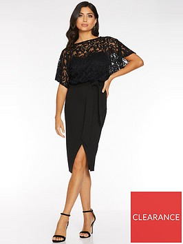 quiz-lace-batwing-top-with-sweetheart-lining-wrap-dress