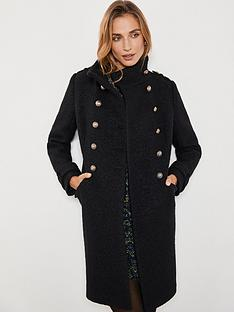 mint-velvet-military-stand-collar-boucle-coat-black