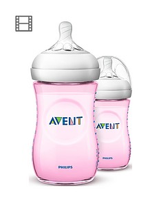 avent-philips-avent-natural-20-bottle-9oz-twin-pink