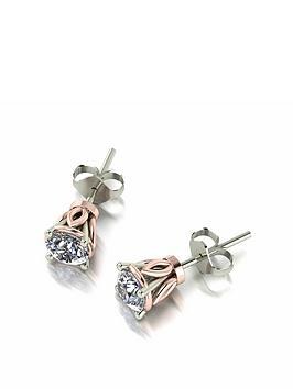 moissanite-moissanite-9ct-white-gold-1ct-eq-solitaire-stud-earrings-with-rose-gold-setting