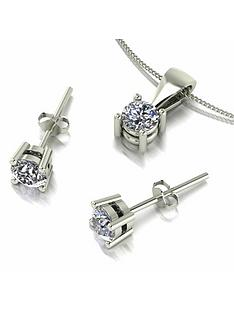 moissanite-moissanite-9ct-gold-1ct-eq-solitaire-stud-earrings-and-pendant-set