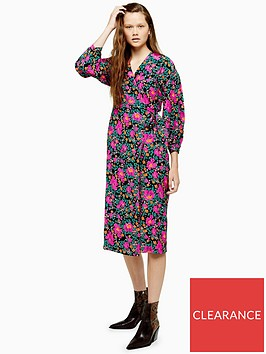 topshop-printed-wrap-midi-dress-multi