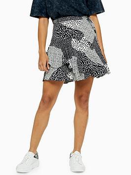 topshop-spot-flippy-mini-skirt-monochrome