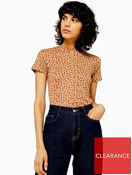 topshop-topshop-leopard-print-t-shirt-tan